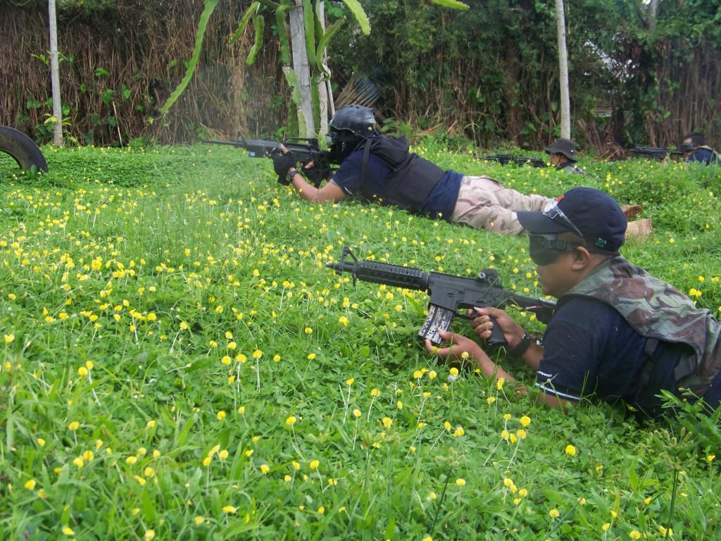 Air Soft Gun di Kebun Teh Wonosari