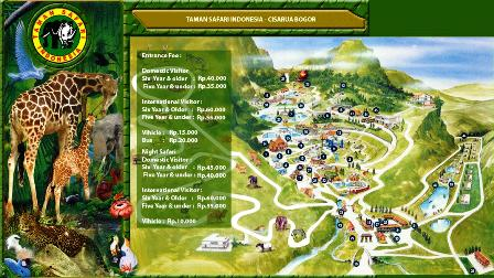 Map Taman Safari Indonesia 2